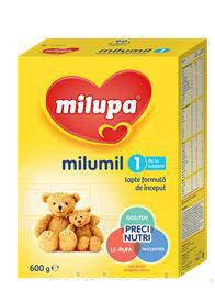 Milupa  Aдаптирано бебешко мляко MILUMIL 1 600гр. 0-6м